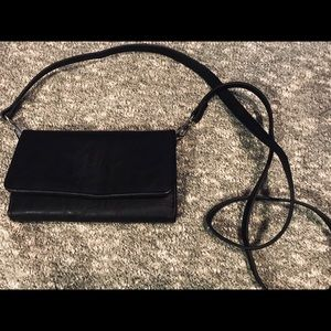 Black crossbody wallet